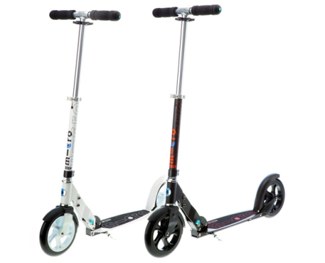 micro black and white kick scooters